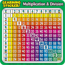 Teachers Friend TF-7006 Multiplication-Division 4In Learning Stickers 20 Per Pack