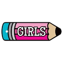 Top Notch Teacher Products TOP10113 Plastic Hall Pass Girls Pencil