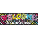 Top Notch Teacher Products TOP10594 Magnetic Welcome Banner Neon Chalk Dots