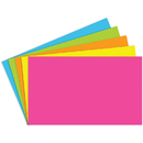 Top Notch Teacher Products TOP360 Index Cards 3X5 Blank 100 Ct Brite Assorted