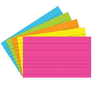 Top Notch Teacher Products TOP362 Index Cards 3X5 Lined 75 Ct Brite Assorted