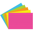 Top Notch Teacher Products TOP363 Index Cards 4X6 Lined 75 Ct Brite Assorted