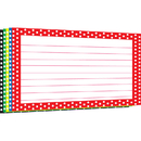 Top Notch Teacher Products TOP3669 Border Index Cards 4X6 Polka Dot Lined