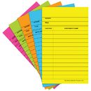 Top Notch Teacher Products TOP368 Library Cards Brite Assorted 50/Box