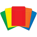 Top Notch Teacher Products TOP4035 Little Pockets Primary Colors