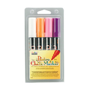 Uchida Of America UCH4804B Bistro Chalk Markers Brd Tip 4 Clr - Set Wht Fluor Violet Org Pnk
