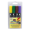 Uchida Of America UCH4804D Bistro Chalk Markers Brd Tip 4 Clr - Set Brown Green Yellow Violet