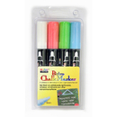 Uchida Of America UCH4804ED Bistro Chalk Markers Brd Tip 4 Clr - Set White Red Blue Green