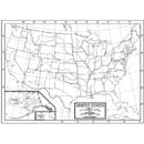 Kappa Map Group / Universal Maps UNI16319 Outline Map Study Pads Us