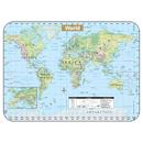 Kappa Map Group / Universal Maps UNI28422 Shaded World Wipe Off Map