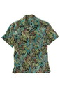 Edwards Garment 1032 Tropical Leaf Camp Shirt (Short Sleeve)