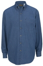 Edwards Garment 1090 Denim Shirt - Men's Denim Shirt (Long Sleeve) - 8.5 Oz