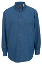Edwards Garment 1093 Denim Shirt - Men's Denim Shirt (Long Sleeve) - 6.5 Oz