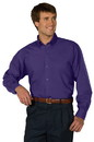 Edwards Garment 1295 Poplin Shirt - Men's Easy Care Poplin Shirt (Long Sleeve) - 65% Polyester/35% Cotton