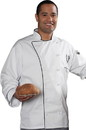 Edwards Garment 3308 Chef Coat - 12 Cloth Button Poly/Cotton Executive Chef Coat