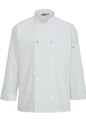 Edwards Garment 3363 10 Button Chef Coat With Mesh