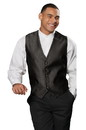 Edwards Garment 4390 Brocade Vest - Men's Brocade Diamond Vest