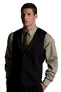 Edwards Garment 4495 Shawl Vest - Men's Satin Shawl Collar Vest