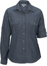 Edwards Garment 5298 Chambray Roll-Up Sleeve Blouse
