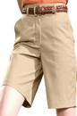 Edwards Garment 8459 Flat Front Shorts - Women's Plain Front Chino Short