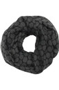 Edwards Garment S005 Tone-On-Tone Circles Infinity Scarf - Women's