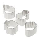 Ateco 1426 4 pc Fruit Shaped Ring Mold Set