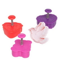 Ateco 1990 4pc Valentine Plunger Cutter Set