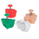 Ateco 1993 4pc Christmas Plunger Cutter Set