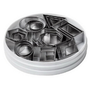 Ateco 4845 Geometric Shapes Cutter Set - tin