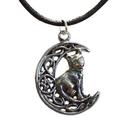 AzureGreen ACELM Celtic Moon & Cat amulet