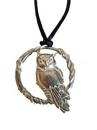 AzureGreen AOWLC Owl in Circle amulet