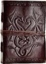 AzureGreen BBBCD57 Double Dragon leather blank book w/ cord