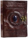 AzureGreen BBBL286 Stone Eye leather blank book w/ latch
