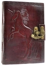AzureGreen BBBL546 Unicorn leather blank book w/ latch