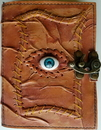 AzureGreen BBBL741 All Knowing Eye leather blank book w/ latch