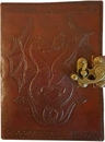 AzureGreen BBBLDRAD Double Dragon leather blank book w/ latch