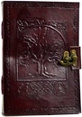 AzureGreen BBBLT283 Tree of Life leather blank book w/ latch