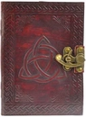 AzureGreen BBBLT548 Triquetra leather blank book w/ latch