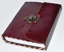 AzureGreen BBBS886 Plain leather blank book w/ snap