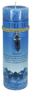 AzureGreen CP90TR Truth pillar candle with Sodalite pendant