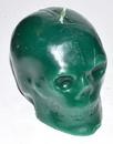 AzureGreen CSKUGC Green Skull Candle 3 1/2