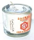 AzureGreen CVCSSAC Sacral chakra soy votive candle
