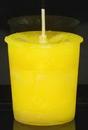 AzureGreen CVHPOS Positive Energy Herbal votive - yellow