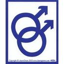 AzureGreen EBSMM Male/Male Bumper Sticker