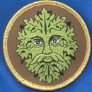 AzureGreen ESGRE Green Man iron-on patch 3