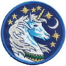 AzureGreen ESUNI Unicorn iron-on patch 3