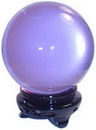 AzureGreen FCB644 95 mm Lavender crystal ball