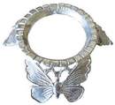 AzureGreen FCBUT Silver Plated Butterfly crystal ball stand