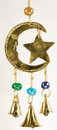 AzureGreen FW513 3 Bell Star and Moon wind chime