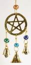 AzureGreen FW514 Three Bell Pentagram wind chime